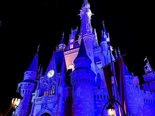 Cinderellas Castel at night