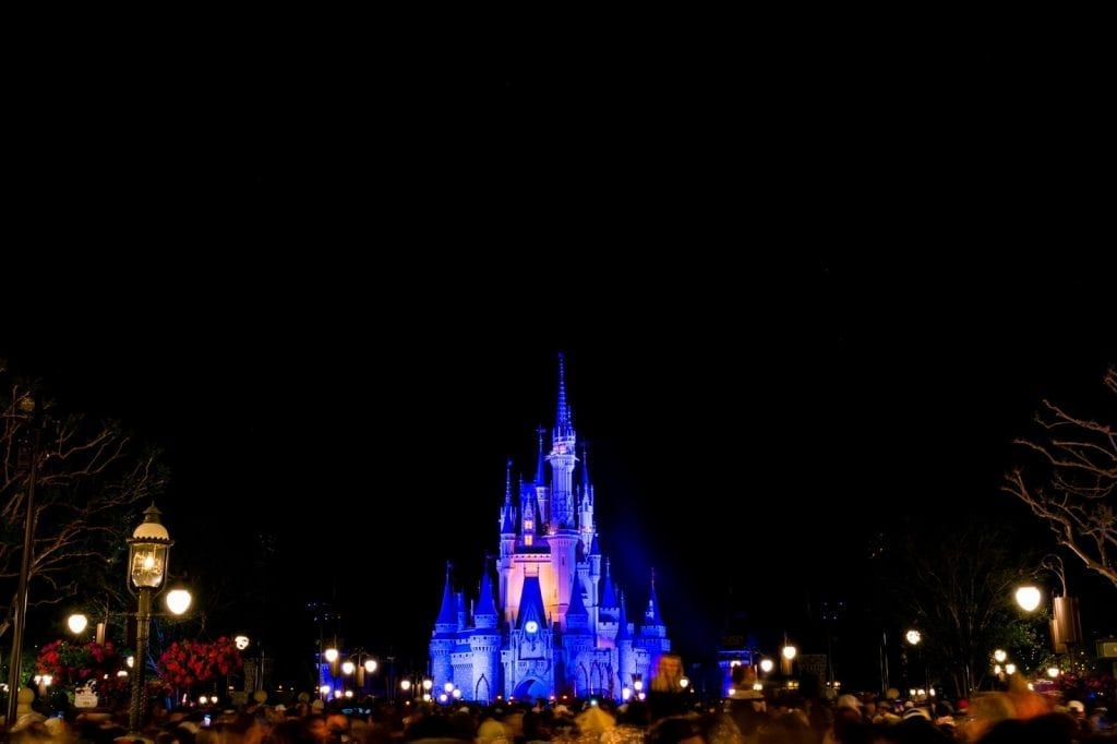 Cinderellas Castle Night - 2018 Disney World Tips