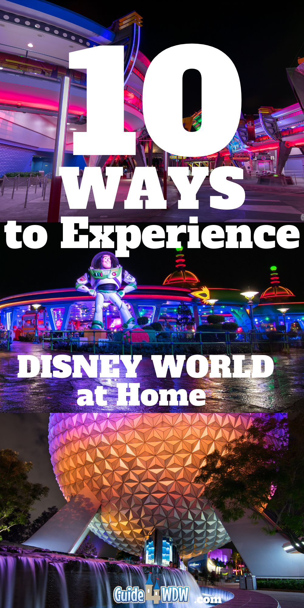 10 Ways to Experience Disney World at Home! - Pin