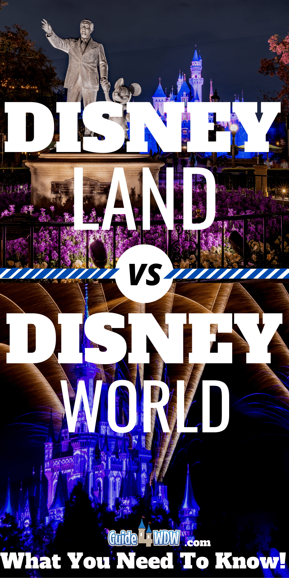 Disneyland vs. Disney World: Pinterest